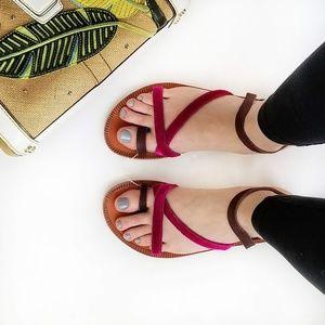 Free People Isle of Capri Velvet Sandal - Size 37